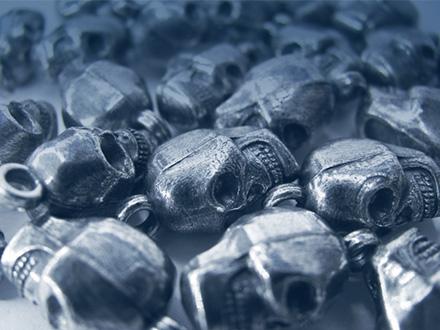 Pendentif en Zamak recouvert d'argent